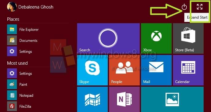 How To Always Open Start Menu In Full Screen In Windows 10