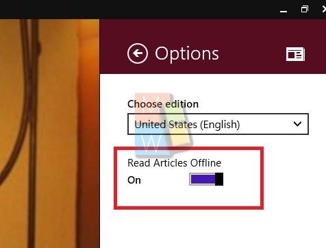 Read articles offline