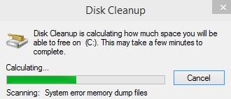 calculation of storage