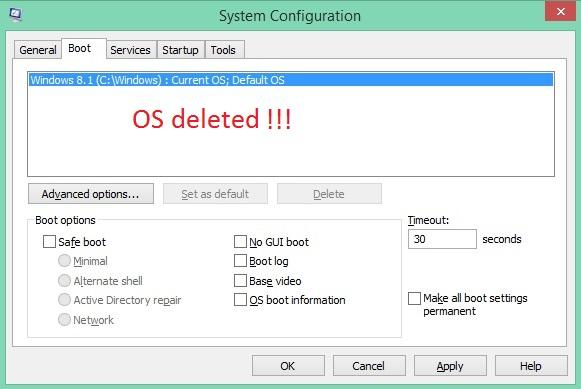 Delete OS