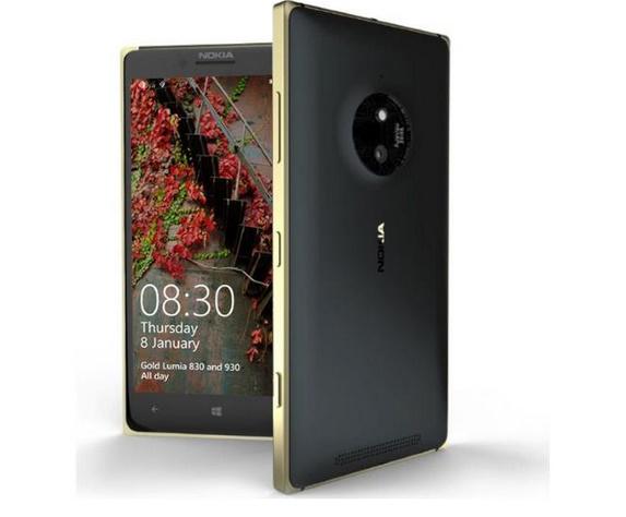 Lumia 830 and Lumia 930 gets a gold color splash
