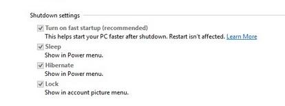 Shutdown Settings