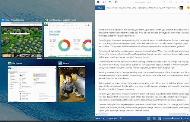 Aero Snap of Windows evolves to Snap with Windows 10