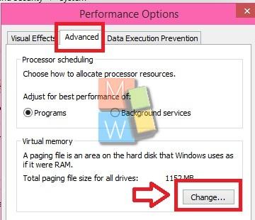 Virtual Memory Settings