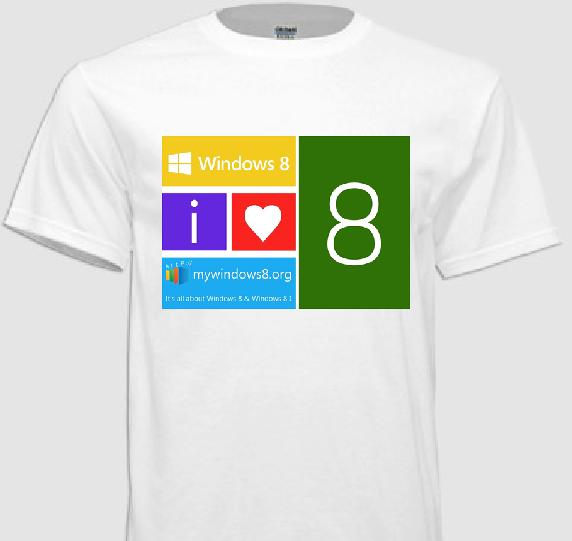 Windows 8 t-shirts design 1