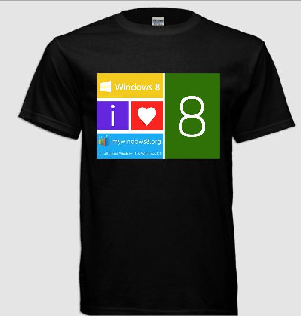 Windows 8 t-shirts design 10