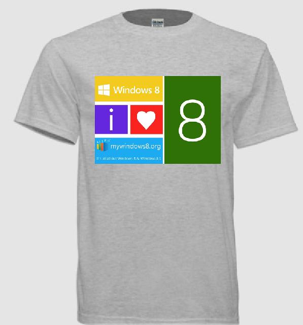 Windows 8 t-shirts design 11