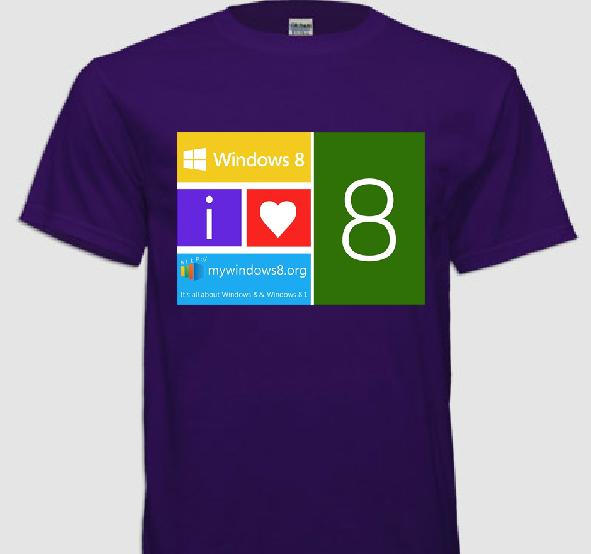 Windows 8 t-shirts design 3