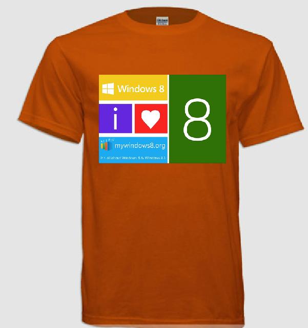 Windows 8 t-shirts design 4