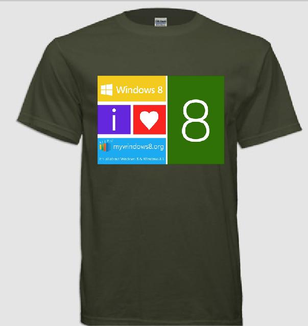 Windows 8 t-shirts design 9
