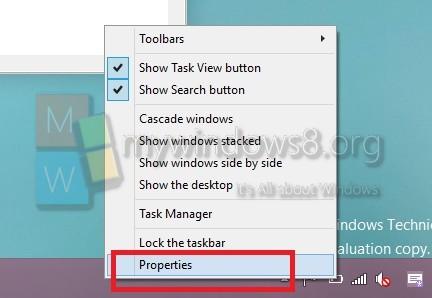 Taskbar-Propeties